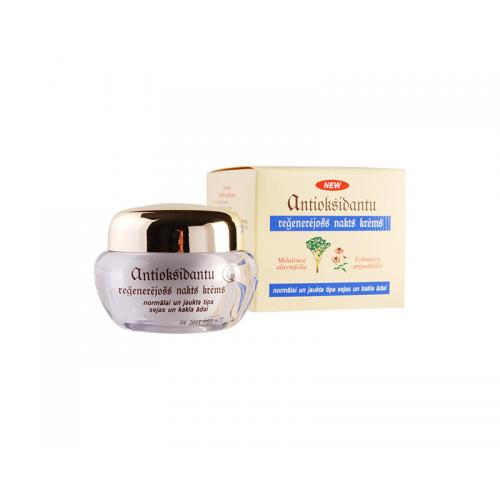 Антиоксидантный ночной регенерирующий крем для нормальной и смешанной кожи лица и шеи, 50 мл