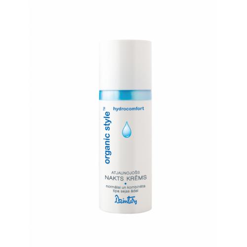 Organic Style Hydrocomfort Восстанавливающий ночной крем для нормальной и комбинированной кожи лица, 50 мл