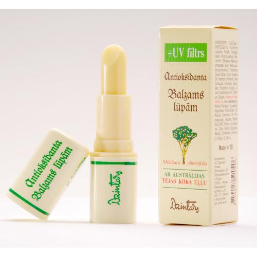 Антиоксидантный бальзам для губ с маслом австралийского чайного дерева с УФ фильтром, 4 мл